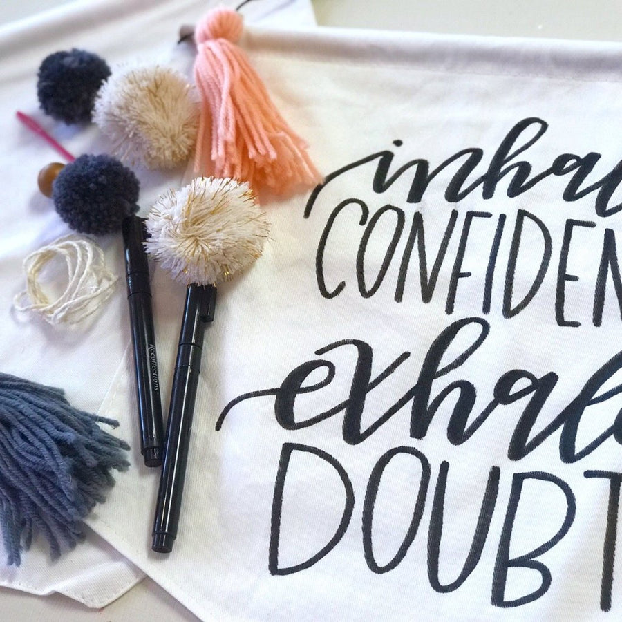 Hand Lettered Wall Hanging Workshop - Affirmations Edition - May 7 - Columbus, Ohio