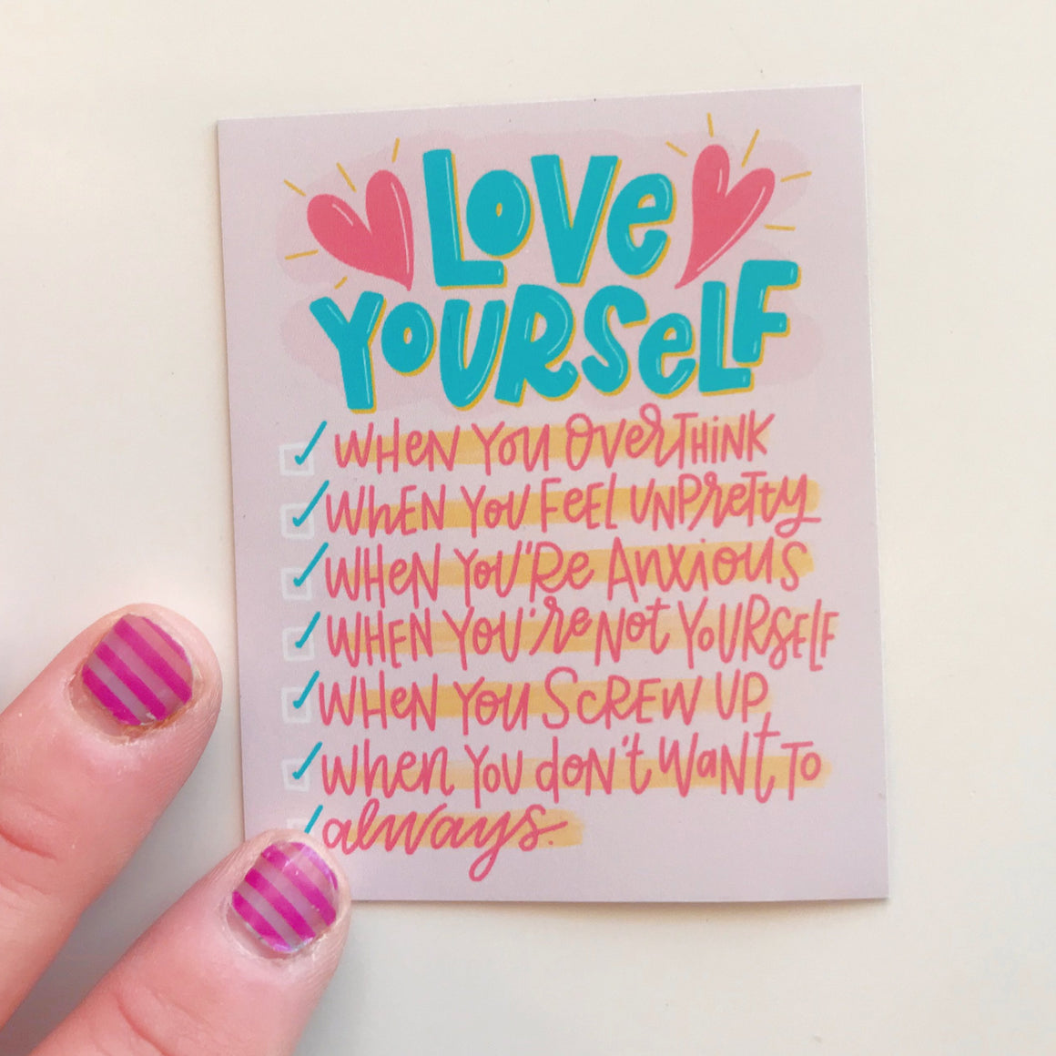Love Yourself Checklist