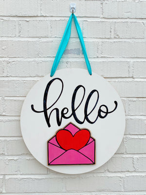 Interchangeable Hello Door Sign Kit + Virtual Workshop - July 16