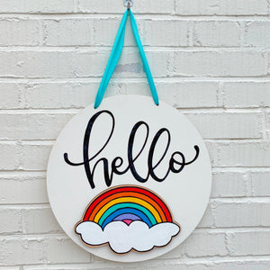 Interchangeable Hello Door Sign Kit + Virtual Workshop - February 2