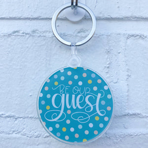 Be Our Guest Keychain