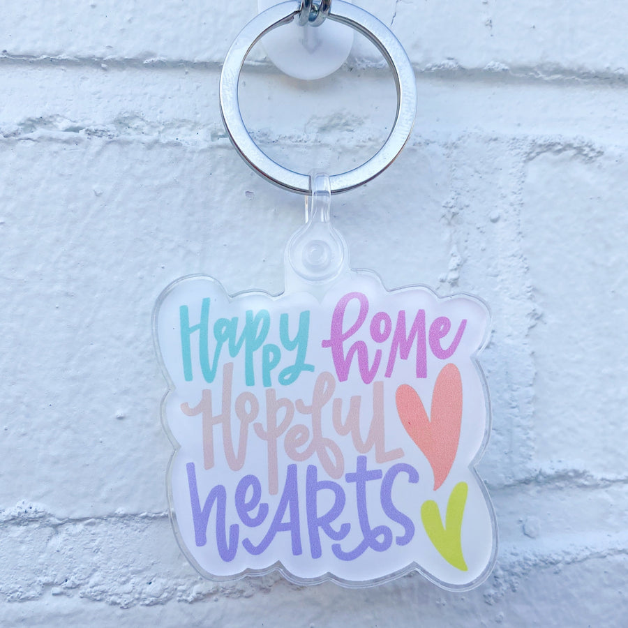 Happy Home, Hopeful Hearts Keychain