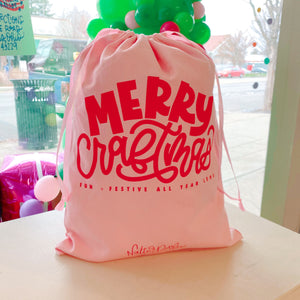 Merry Craftmas Drawstring Bag