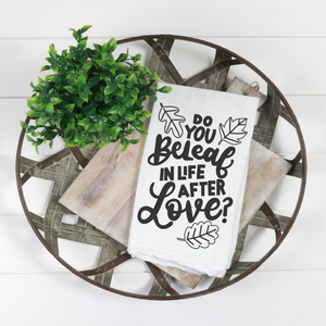 Hand Lettered Dish Towels Kit + Virtual Workshop - Autumn Edition