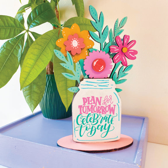 Hand Lettered Flower Arrangement Kits + Virtual Workshop - August 13