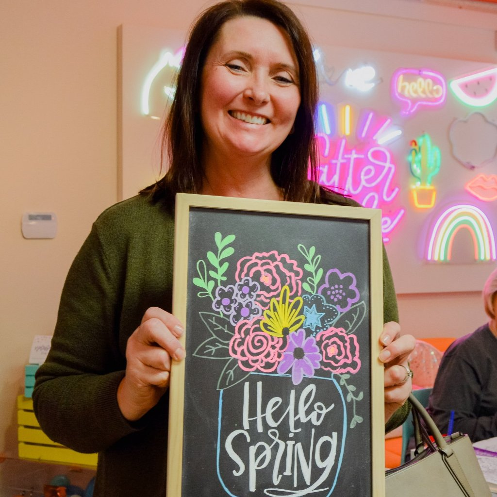 Hand Lettered Chalkboards - Spring Edition - Upper Arlington, Ohio - March 26