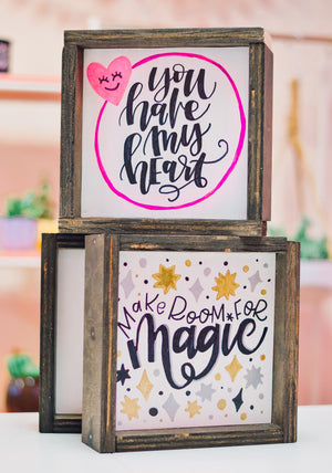 Virtual Scripts & Signs - Reversible Hand Lettered Signs Kit + Workshop