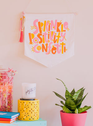 Sprinkle Positivity Confetti Wall Hanging