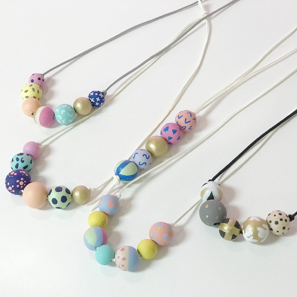 Mother's Day Hand Painted Beaded Necklace Kit + Virtual Workshop - May 9