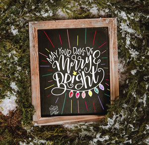 Virtual Hand Lettered Chalkboards Workshop - Winter Holiday Edition - December 7