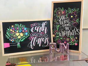 Hand Lettered Chalkboards - Spring Edition - Columbus, Ohio - March 13