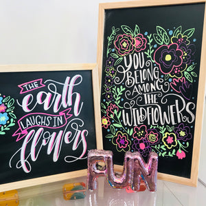 Hand Lettered Chalkboards - Spring Edition - Toledo, Ohio - May 2