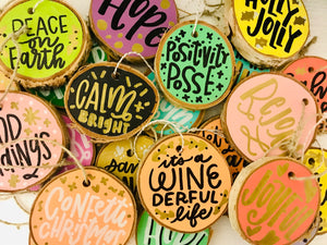 Hand Lettered Holiday Ornament Surprise Pack PRE-ORDER