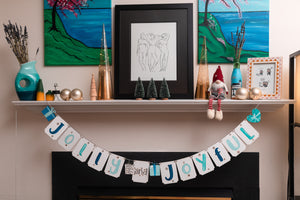 Holiday Hand Lettered Banner DIY Kit + Virtual Workshop: Merry + Bright - November 18