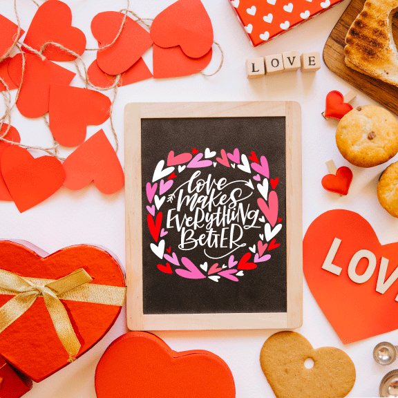 Hand Lettered Chalkboards - Valentine's Edition - Columbus, Ohio - January 22