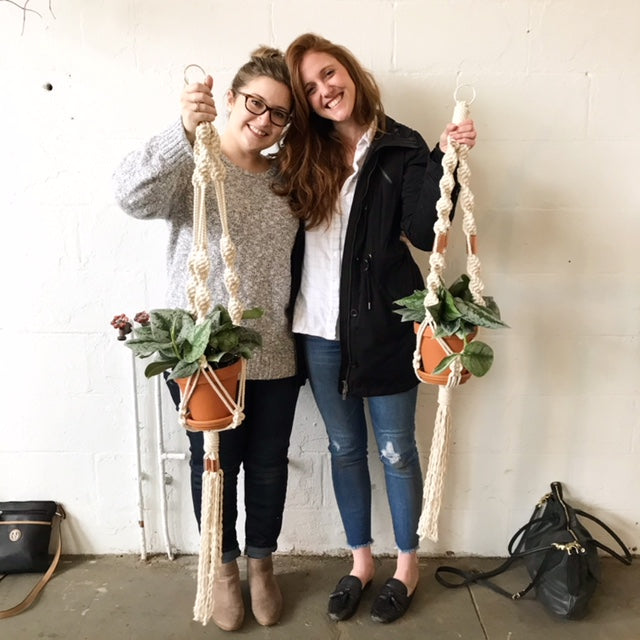 Macrame Plant Hanger Workshop with Sarah Harste - April 12 - Columbus, OH
