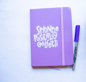 Sprinkle Positivity Confetti Writer's Notebook
