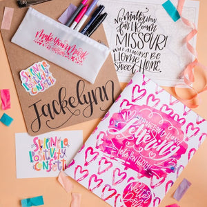 Virtual Introduction to Hand Lettering Workshop (Original Script) - February 23