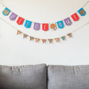 Thanksgiving Hand Lettered Banner DIY Kit + Video Replay: Piece Out Edition
