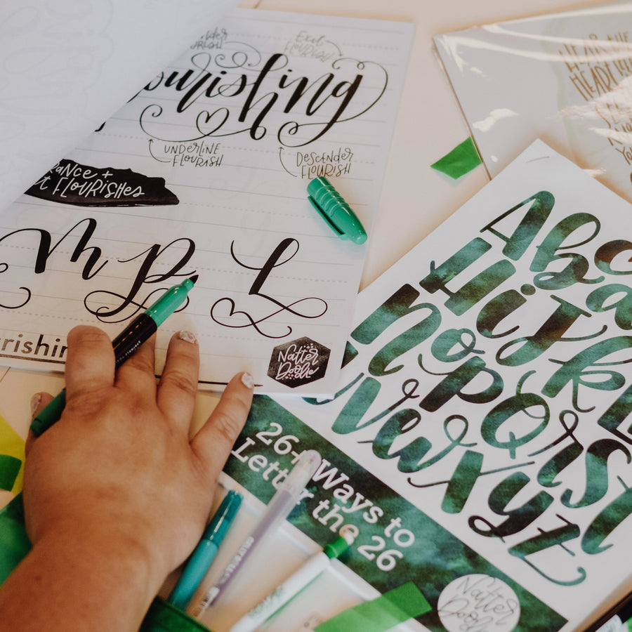 Virtual Intermediate Hand Lettering Workshop - January 26