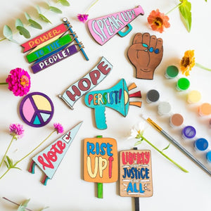 Virtual Hand Painted Activism Magnets Workshop - November 2