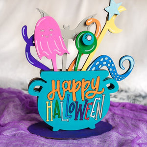 Hand Lettered Halloween Cauldron Arrangement Kits + Virtual Workshop - October 9