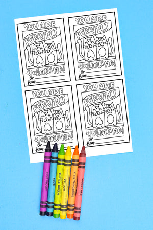 Color-Your-Own Valentines