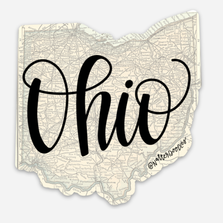 Ohio Map Sticker