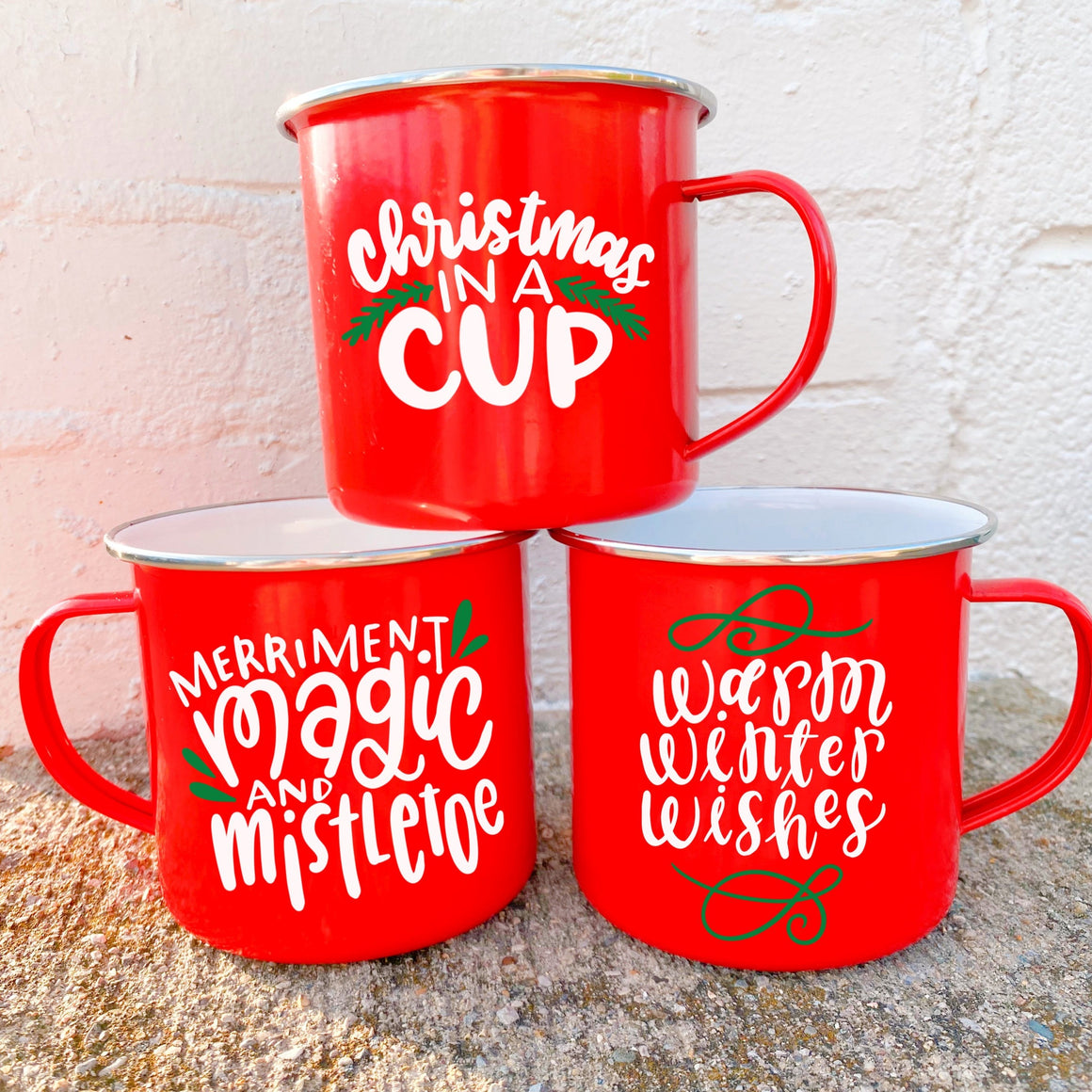 Holiday Hand Lettered Camping Mug + Virtual Workshop - December 10