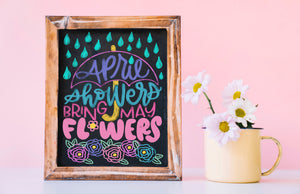 Virtual Hand Lettered Chalkboards Workshop - Easter/April Edition - March 16
