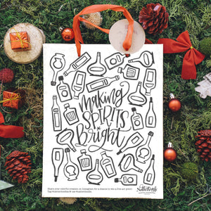 Winter + Holiday Coloring Pages