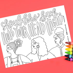 International Women's Day Coloring Page