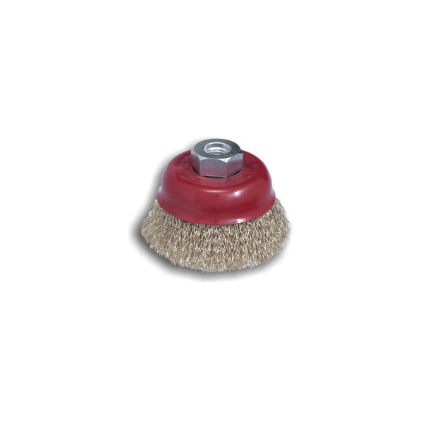 100mm crimped cup brushes - stainless steel