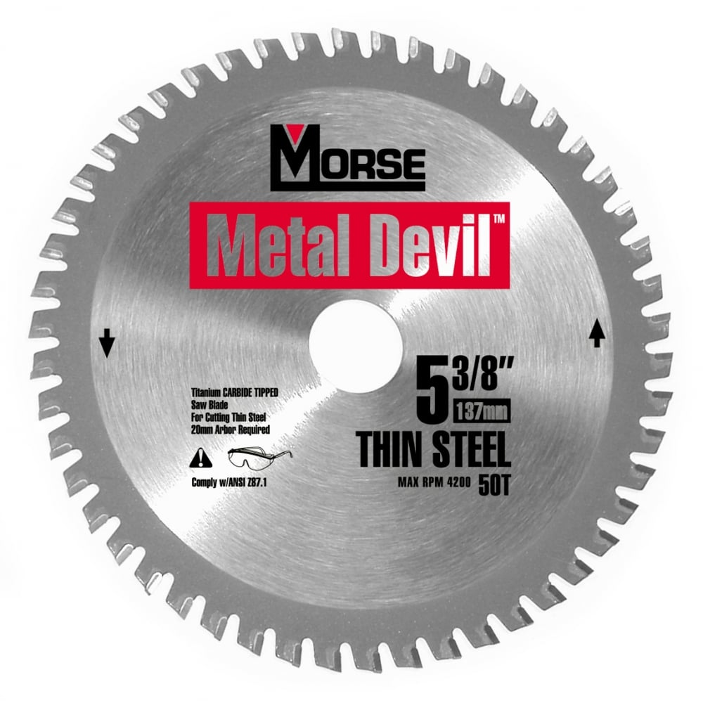 137mm (50 Tooth) Thin Steel Cutting Metal Devil TCT Circular Saw Blade