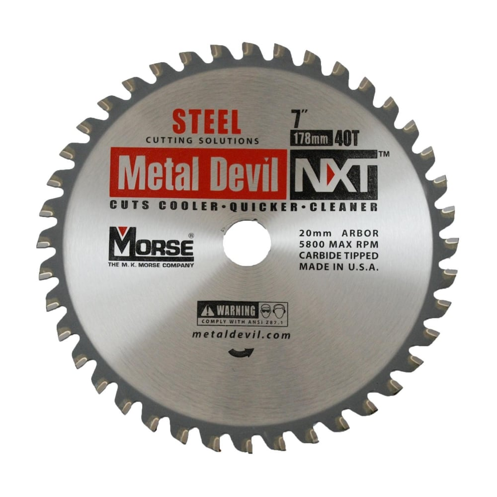 178mm (44 Tooth) Stainless Steel Cutting Metal Devil TCT Circular Saw Blade