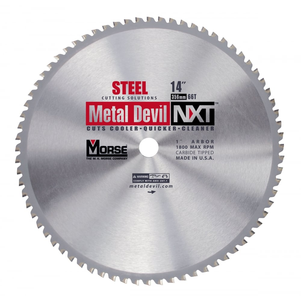 356mm (66 Tooth) Steel Cutting Metal Devil TCT Circular Saw Blade