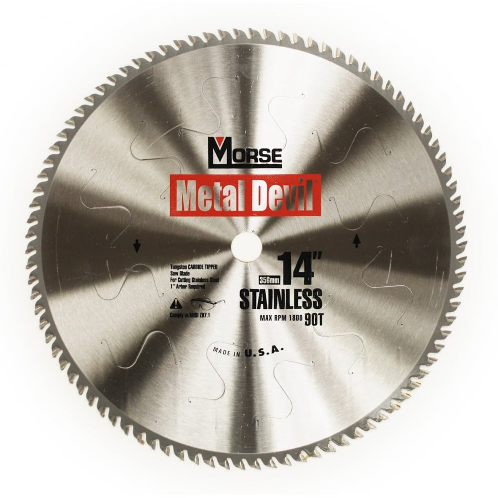 356mm (90 Tooth) Stainless Steel Cutting Metal Devil TCT Circular Saw Blade