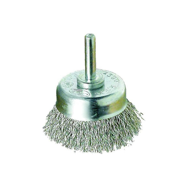 50mm Diameter / 6mm Face Width 0.30 Stainless Steel Crimped Cup Brush