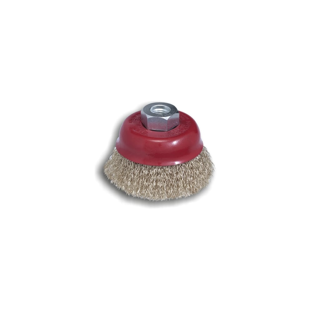 80mm Crimped Cup Brushes - 0.35 Steel Wire