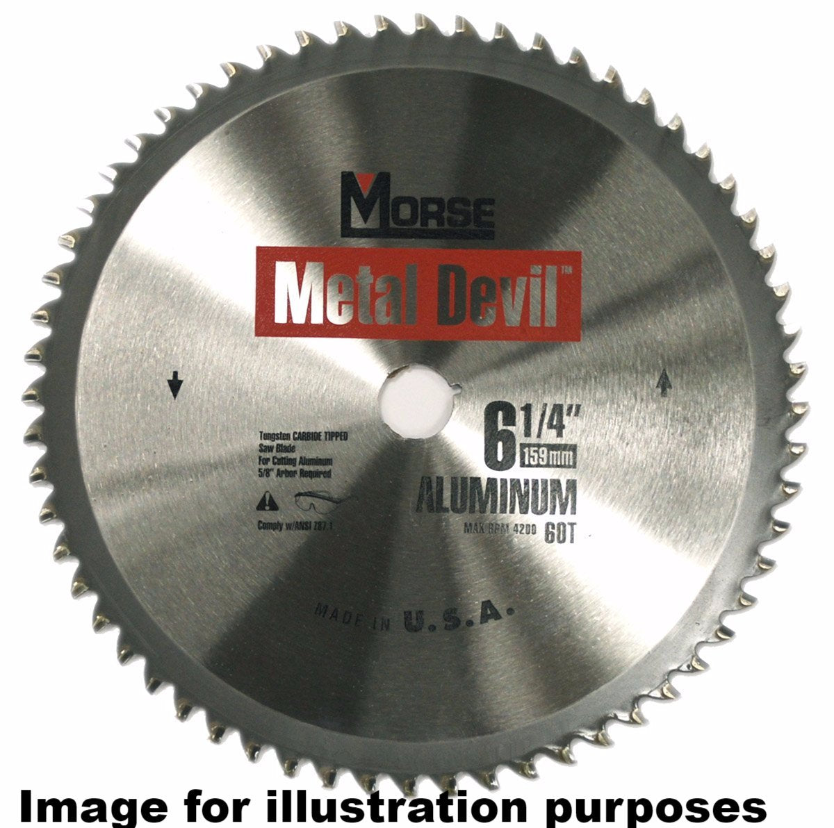 159mm (48 Tooth) Steel Cutting Metal Devil TCT Circular Saw Blade