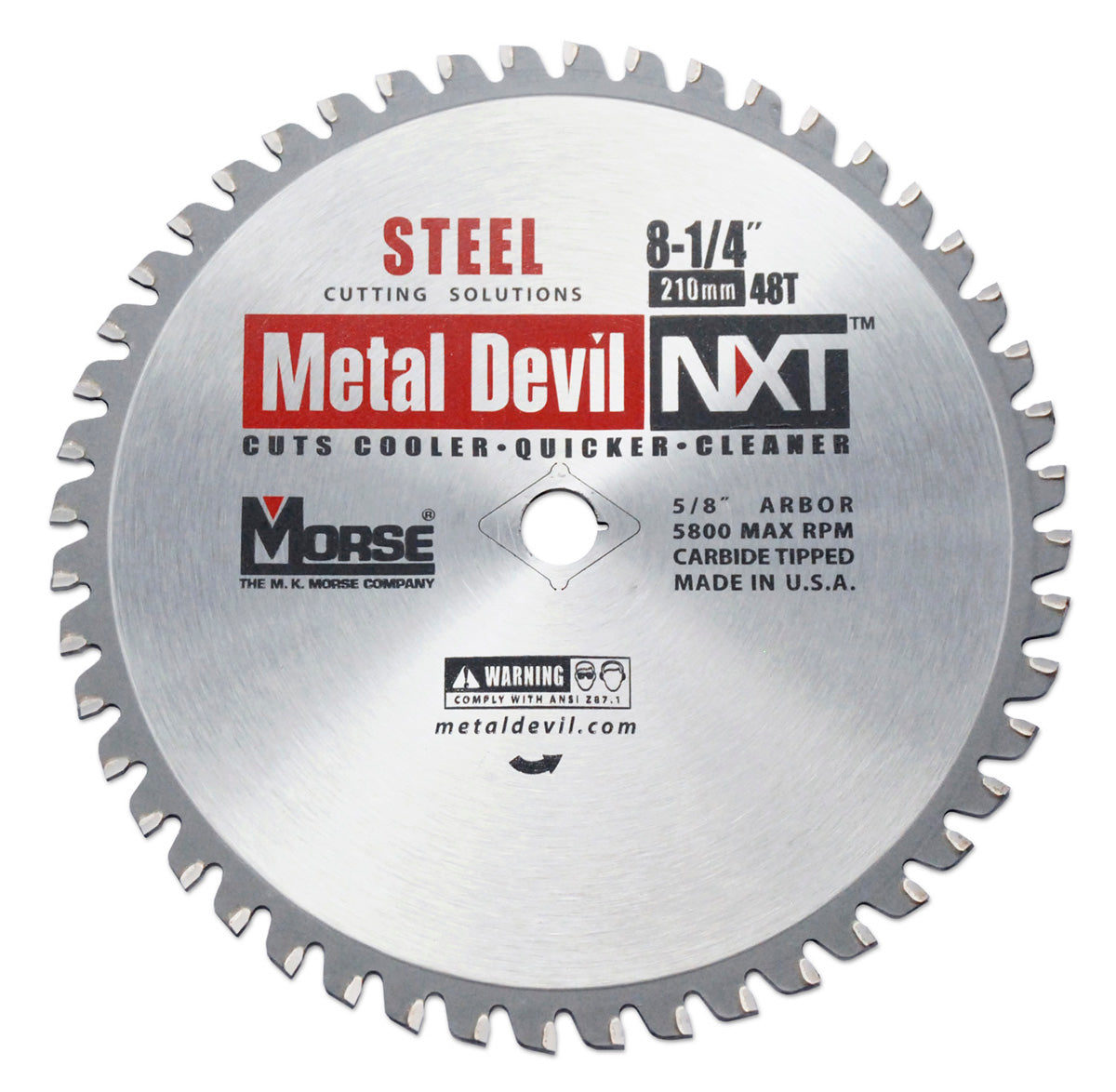 210mm (48 Tooth) Steel Cutting Metal Devil TCT Circular Saw Blade