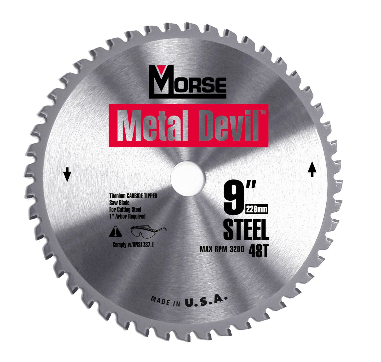 229mm (48 Tooth) Steel Cutting Metal Devil TCT Circular Saw Blade