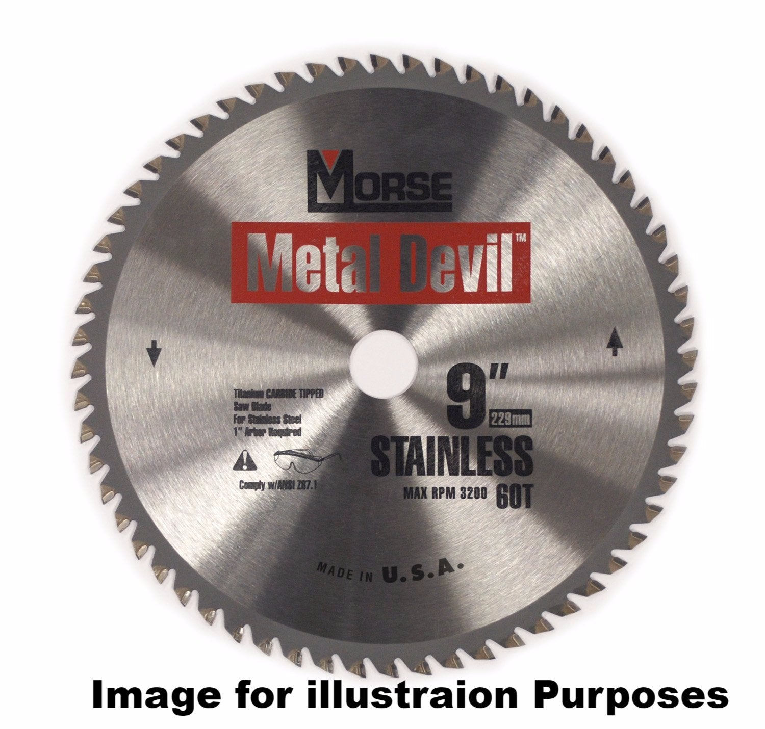 229mm (56 Tooth) Stainless Steel Cutting Metal Devil TCT Circular Saw Blade