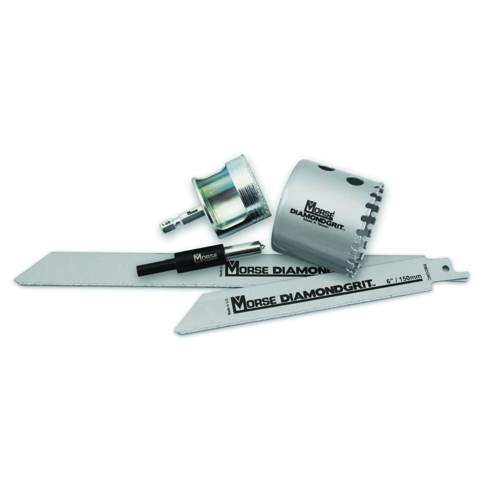 "Diamond Grit Hole Saws - With ¼"" Quick Release Shank"