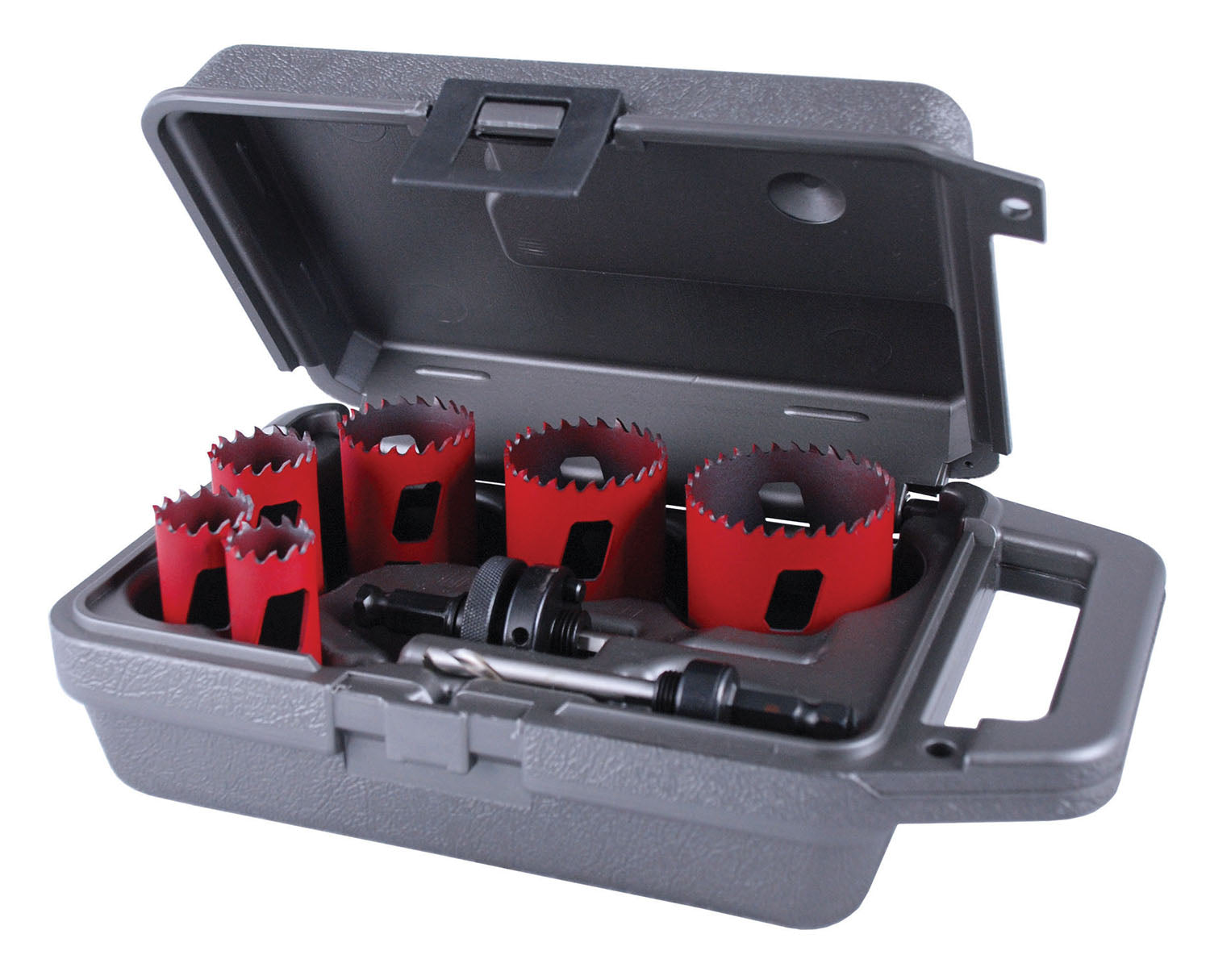 "9 Piece ""UK Plumbers"" Bi-Metal Master Cobalt AV Hole Saw Kit"