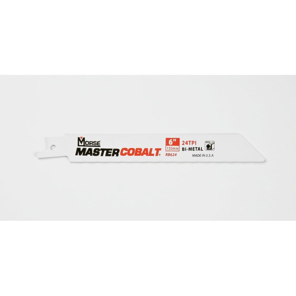 "Metal Cutting - 150mm (6"") -  24TPI Master Cobalt Reciprocating 0.9mm (.035"") Saw Blade"