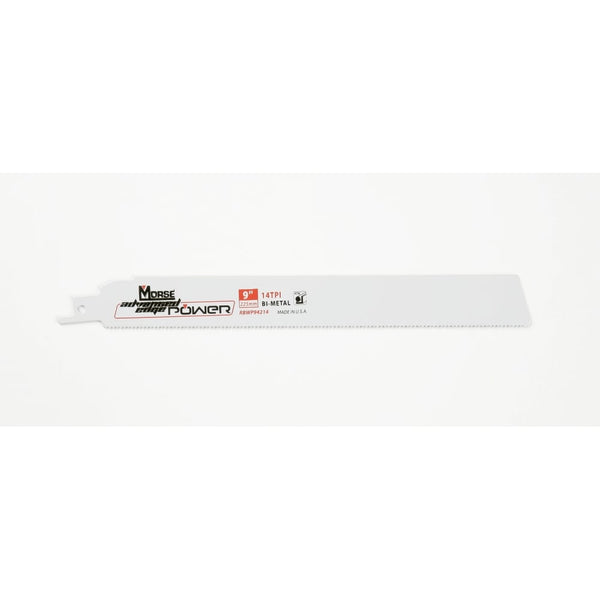 "Metal Cutting - 225mm (9"") -  14TPI Morse Advanced Edge Reciprocating 1.1mm (.042"") Thick Saw Blade"
