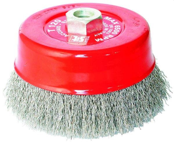 150mm Crimped Cup Brush - Steel