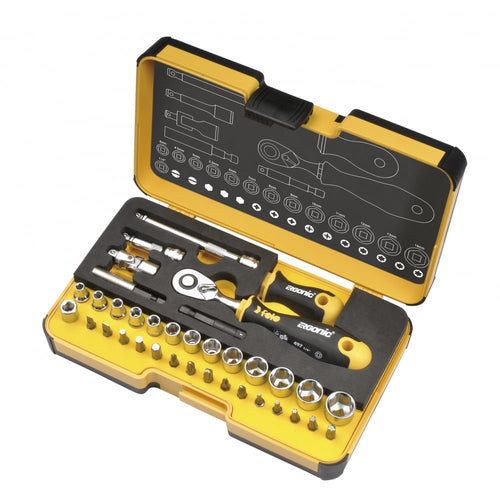 SOCKET & BIT SETS R GO XL 36 pc