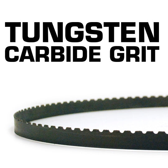 "Tungsten Carbide Grit Bandsaw Blades for cutting Abrasive materials 13mm x 0.65mm (1/2"" x 0.025"")"